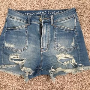Articles of Society stretchy high waisted shorts